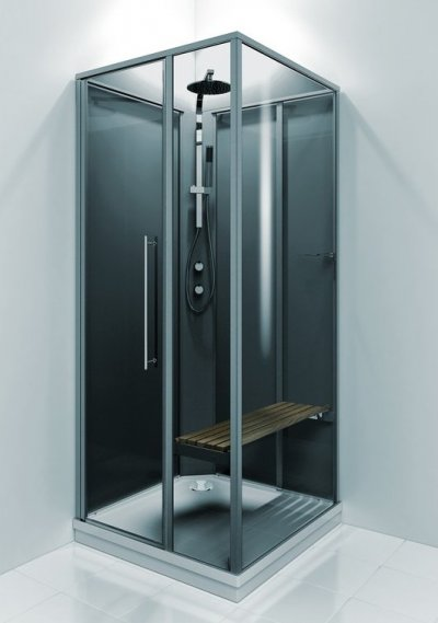Bild på en duschkabin.