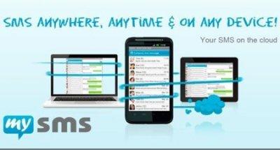 """https://www.mysms.com/  """"Envía y recibe todos tus SMS a través de tu notebook, PC y tablet así como también a través de tu teléfono inteligente."""""""