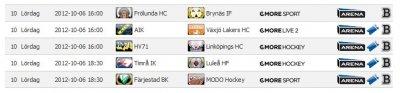 Elitserien spelschema 2012-10-06