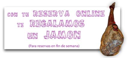 Banner jamón gratis por reserva online