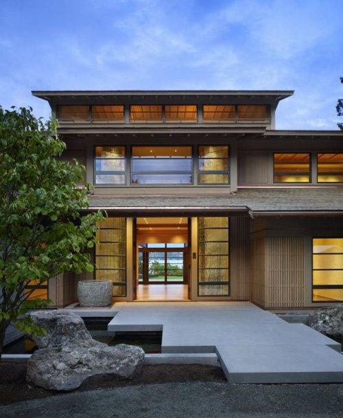 Exklusivt hus i Japansk stil