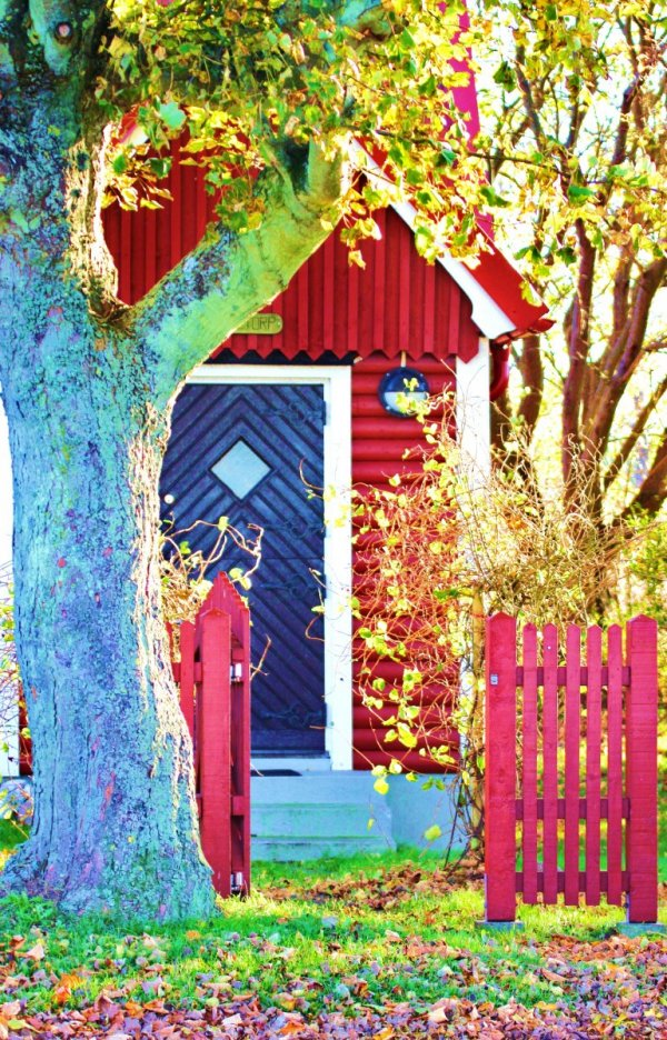 litet hus på landet