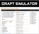FREE / LIVE 2014 Fantasy Football Mock Draft Simulator