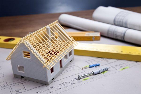 Bygga hus, ritning