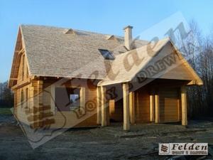 dom z bala prostokątnych