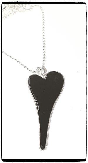 Halsband - Svart Hjärta