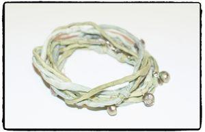 Armband - SiLK & SWEET (grön el. svart)