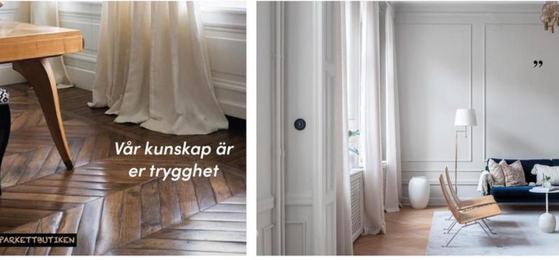 Vi säljer alla sorters trägolv och fiskbensparkett i Stockholm. Ni hittar oss på Lilla Essingen.