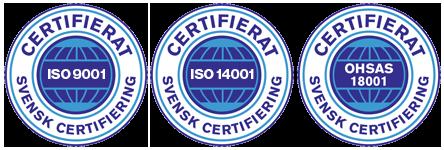 ISO-certifikat för städfirman Städhuset