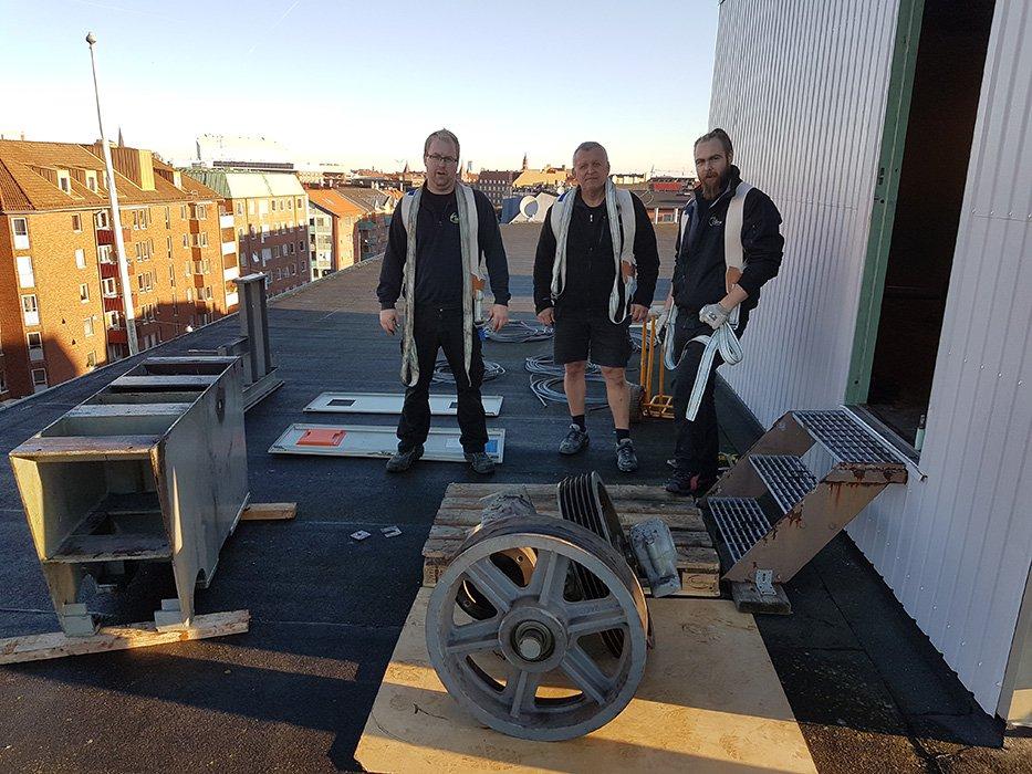 Arbetare på Malmö Flyttjänst i Vellinge