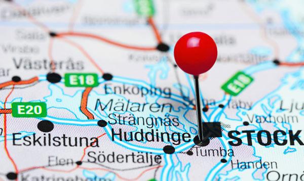 vi utför många flyttstädningar i Huddinge, här är en karta över kommunen