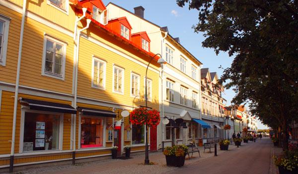 vackra hus i Vaxholm