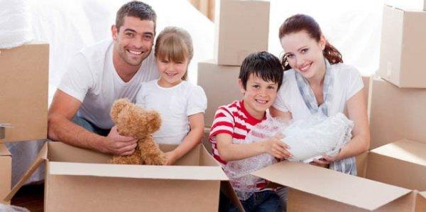 flytta med familj