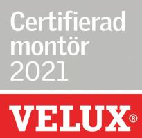 Vi är certifierade montörer av Velux.