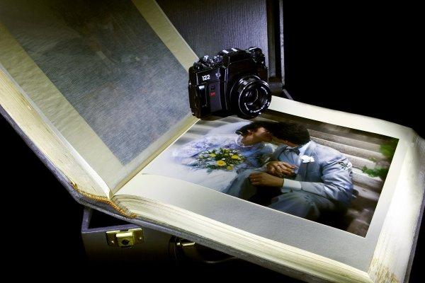 bröllop, foto, album