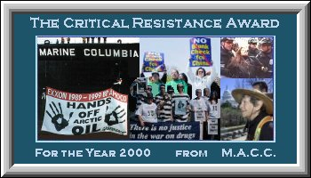 MACC Award for Critical Resistance