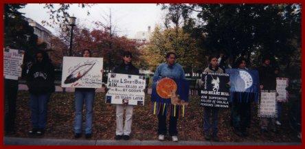 Vigil honoring Native lives across from the White House