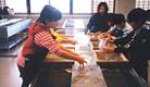砂金取り体験・漉き和紙体験