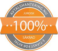 100% juridisk säker avtalstjänst