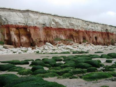Hunstanton Cliffs, Norfolk. Photo © Val Vannett