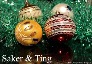 julgranskulor saker ting