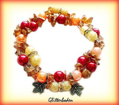 Färgglatt med löv och glaschips