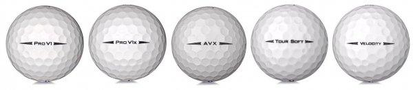 5 Titleist golfbollar