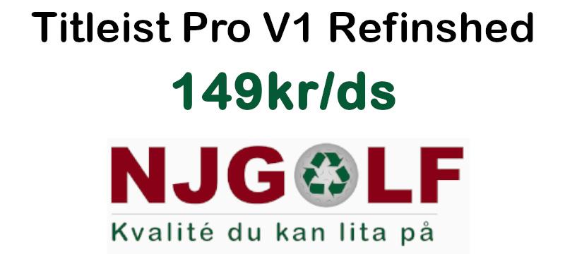 Titleist Pro V1 Refinshed till bra priser hos NJ Golf