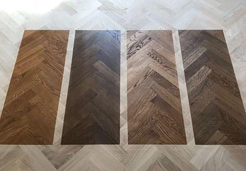 När vi utför golvslipning kan vi även lägga till pigment på golvet.