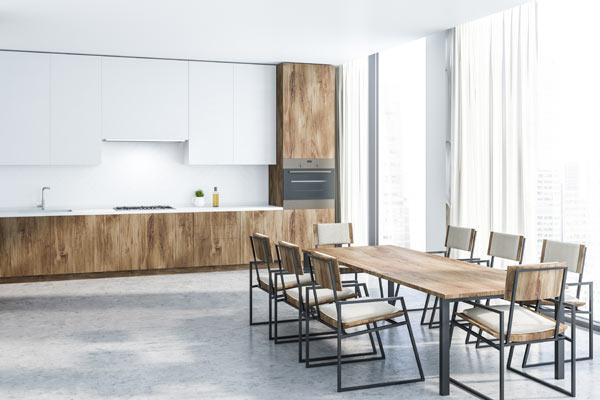 klinker i kök kan ersättas med trägolv