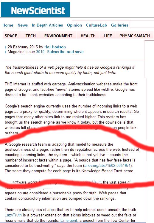 Google SEO Hör Länkar till verkligheten