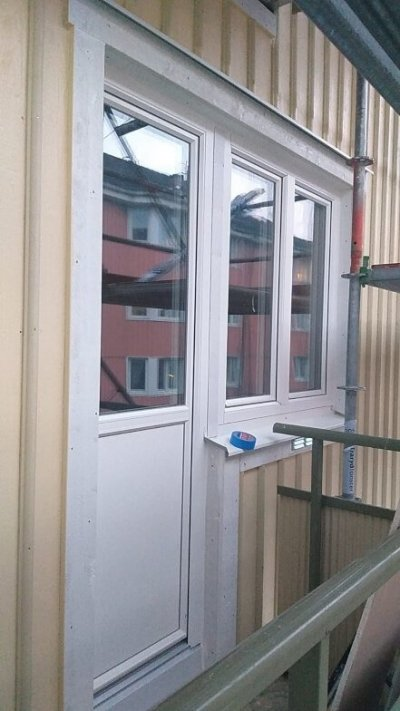 ny plåt bleck fasad