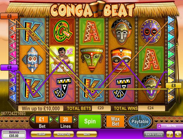 Conga beat spillemaskine