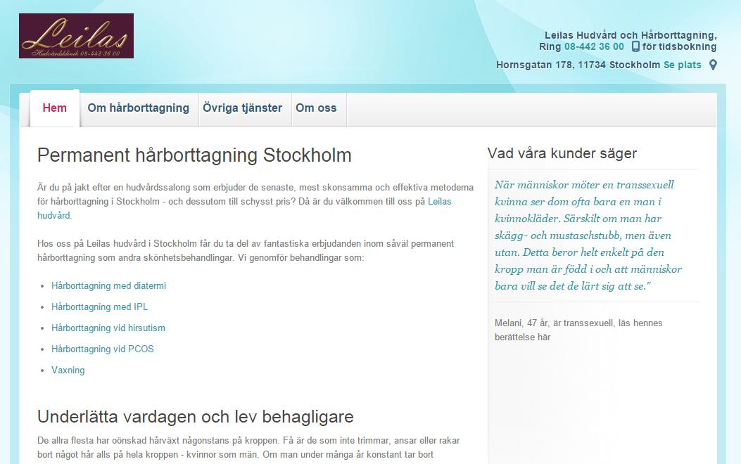 hemsida pris stockholm
