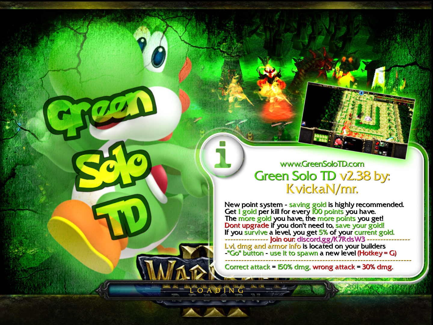 Green Solo TD v2.38 WC3 Loading Screen