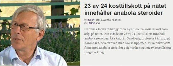 Kosttillskott i Sverige
