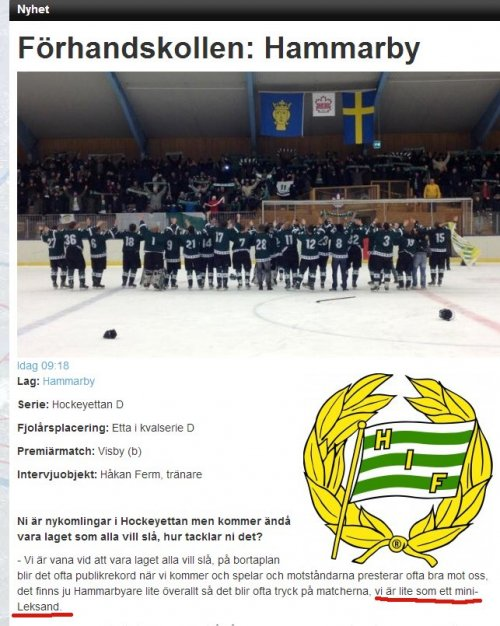 Hammarby Ishockey och Leksand
