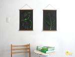 pyssel-diy-pyssligt-papper-papperspyssel-växter-tavlor-konst-väggar-heminrening-inredning-inredningsdetaljer-tavla-klippa-sax-tips