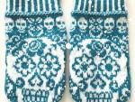 vantar mexikanska döskallar sticka diy mönster inspiration stickbeskrivning
