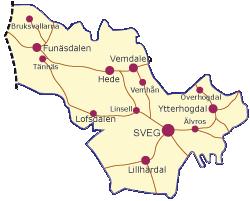 Karta över Härjedalen