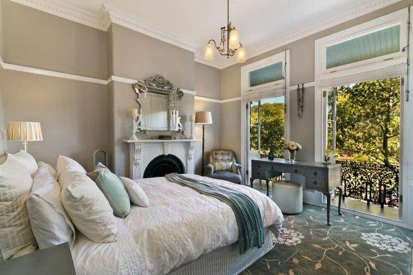 Vackert inrett sovrum