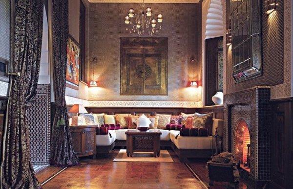 Marockanskt vardagsrum