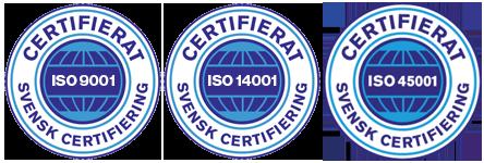 iso-certifikat för Städhuset