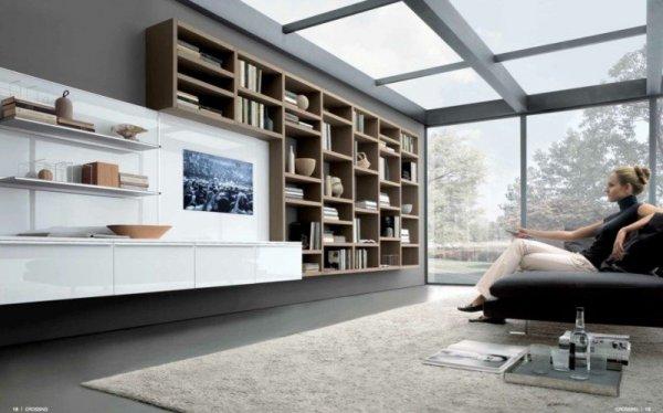 Vardagsrum med glastak