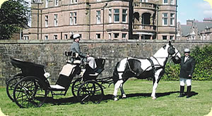 Horseshoe Carriages - victorian horse drawn carriage for your wedding