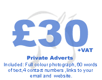 Private Adverts for £30+VAT