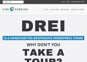 Kombinat Drei responsive WordPress Theme