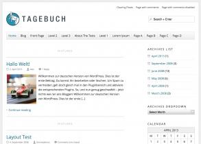 Tagebuch responsive WordPress Theme