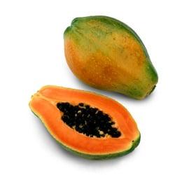 ansiktsmask med papaya