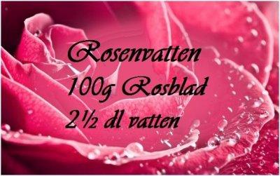 recept på rosenvatten